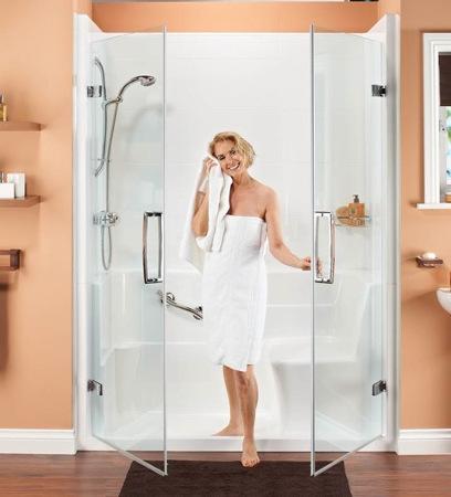 badewolke duschfix aquacomfort dusche umbau der badewanne zur sitzdusche in einem tag. Black Bedroom Furniture Sets. Home Design Ideas