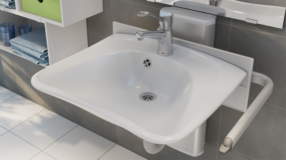 Das Waschbecken.Produktschau Hilfen Für Das Waschbecken Barrierefreie