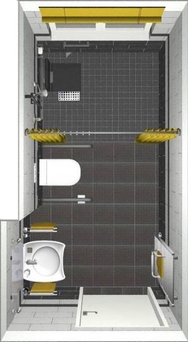 Badgrosse 6 3 Qm 185x340 Cm Barrierefreier Badumbau Bei Rollstuhlnutzung Online Wohn Beratung De